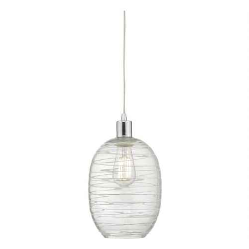 Tizi Easy Fit Pendant Glass & White Detail TIZ6508